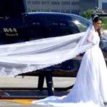 Estaba por cumplir el sueño de llegar en helicóptero a la boda pero algo triste sucedió