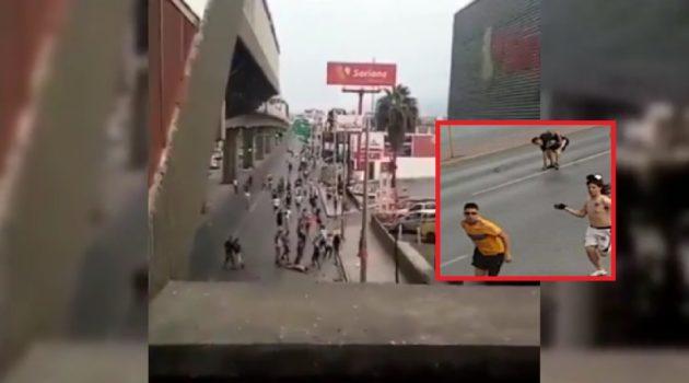 Al borde de la muerte el aficionado de Tigres apuñalado por aficionado de Rayados (video)