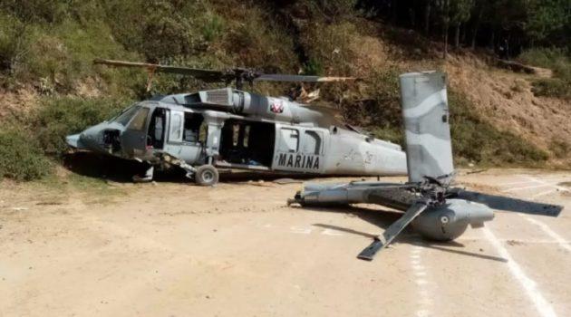Helicóptero de la Marina se cayó en Veracruz. Video